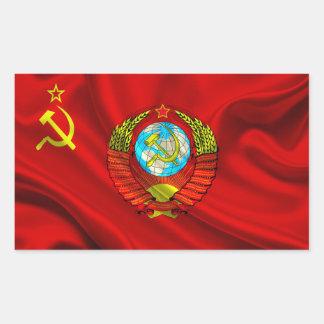 Altes kommunistisches UDSSR-Flaggen-Gewebe Rechteckiger Aufkleber