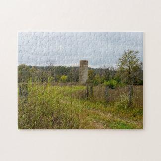 Altes Land-Silo-Landschaft Puzzle