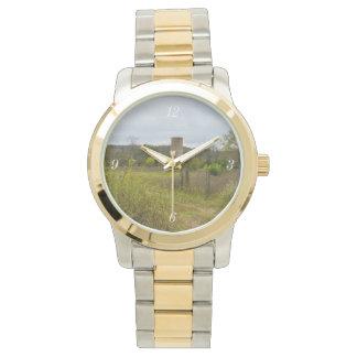 Altes Land-Silo-Landschaft Uhr