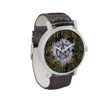 Altes Magick Pentagramm-heidnische Uhr