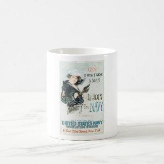 Altes Marine-Plakat circa 1918 Kaffeetasse