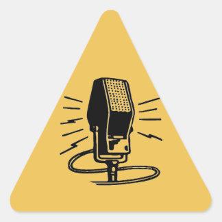 Altes Mikrofon Dreieckiger Aufkleber