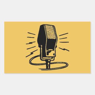 Altes Mikrofon Rechteckiger Aufkleber