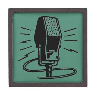 Altes Mikrofon Schmuckkiste