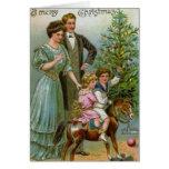 Altes Mode-Weihnachten Karten