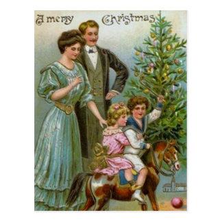 Altes Mode-Weihnachten Postkarte
