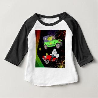 Altes Modeautoviel der Tennisbälle und des rakets. Baby T-shirt