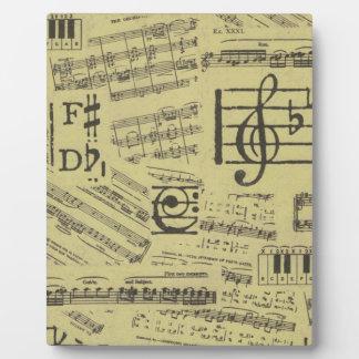 Altes Musik-Papier 2 Fotoplatte