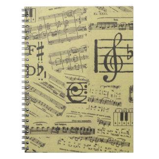Altes Musik-Papier 2 Notizblock