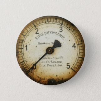 altes Öldruckmessgerät/-instrument/-skala/-meter Runder Button 5,1 Cm