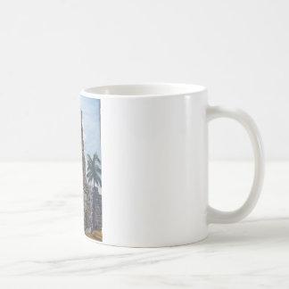Altes Panama-Aquarell Kaffeetasse