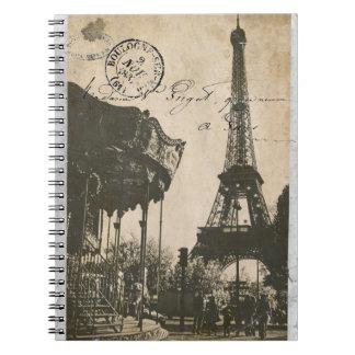 altes Paris-Postkartennotizbuch