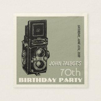 Altes Party-Papierserviette 1 Geburtstag der Papierserviette