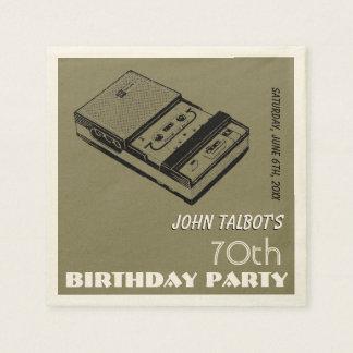 Altes Party-Papierserviette Geburtstag des Papierserviette