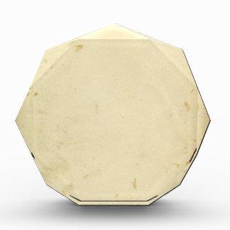 Altes Pergament befleckter gelb gefärbter Vintager Acryl Auszeichnung