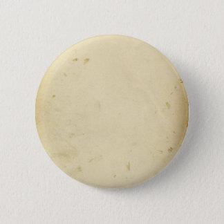 Altes Pergament befleckter gelb gefärbter Vintager Runder Button 5,1 Cm