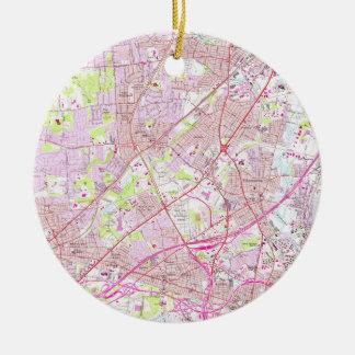 Altes Perth Amboy, Rahway u. Metuchen NJ Map Keramik Ornament