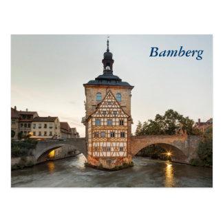 Altes Rathaus Bambergs und Obere Brücke Postkarte