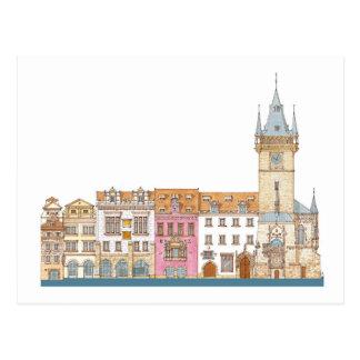 Altes Rathaus. Prag Tscheche Postkarte
