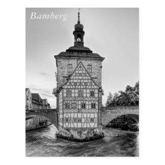 Altes Rathaus und Obere Brücke in Bamberg Postkarte