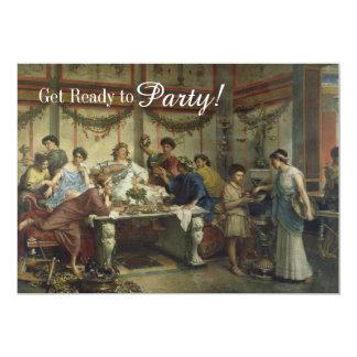 Altes römisches Abendessen-Party-Fest 12,7 X 17,8 Cm Einladungskarte