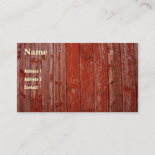 Altes Rotes Holz Visitenkarte Zazzle De