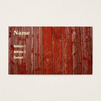 Altes rotes Holz Visitenkarte