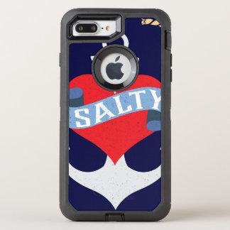 Altes Salz-Anker-Boots-Kapitän OtterBox Defender iPhone 8 Plus/7 Plus Hülle