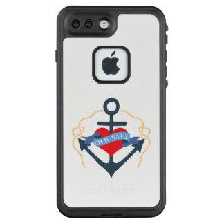 Altes Salz-Schiffs-Anker und Herz LifeProof FRÄ' iPhone 8 Plus/7 Plus Hülle