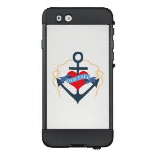 Altes Salz-Schiffs-Anker und Herz LifeProof NÜÜD iPhone 6 Hülle