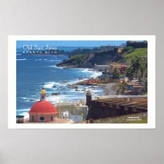 Altes San Juan durch das Meer II Poster