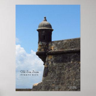 Altes San Juan durch das Seeplakat Poster