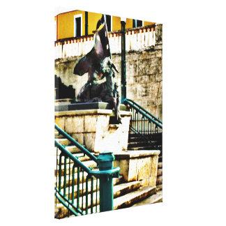Altes San Juan, eingewickelte Leinwand Fotorezepto Galerie Falt Leinwand