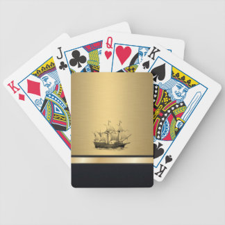 Altes Schiff des noblen attraktiven goldenen Bicycle Spielkarten