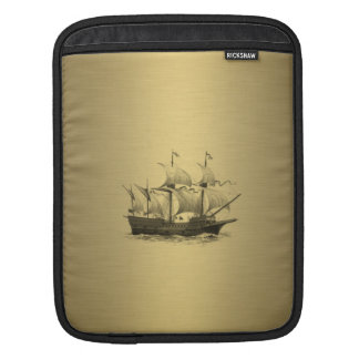 Altes Schiff des noblen attraktiven goldenen iPad Sleeve
