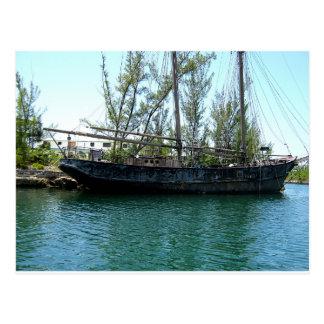 Altes Schiff Postkarte