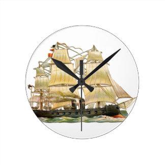 Altes Schiff Runde Wanduhr