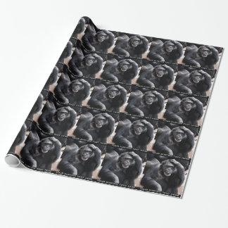 Altes Schimpansegewohnheits-Packpapier Geschenkpapier