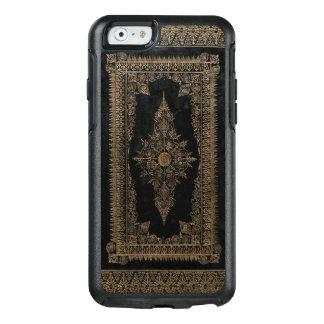 Altes schwarzes Leder-und Rosen-Gold OtterBox iPhone 6/6s Hülle