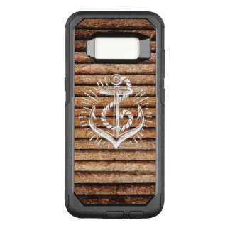Altes Seeanker-Holz OtterBox Commuter Samsung Galaxy S8 Hülle