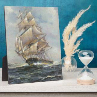 Altes Segelschiff Fotoplatte