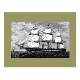 Altes Segelschiff Postkarte