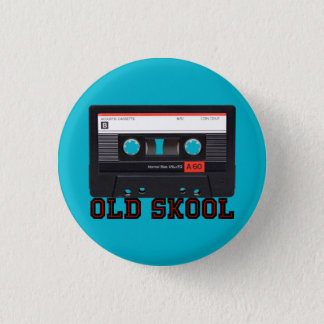Altes Skool - Kassette Runder Button 3,2 Cm