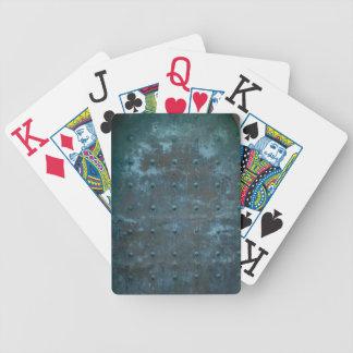 Altes spanisches Kupfer getrübte Metalltür Bicycle Spielkarten