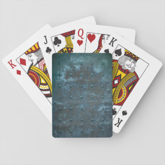 Altes spanisches Kupfer getrübte Metalltür Spielkarten