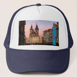 Altes Stadtquadrat Prag, Tschechische Republik-Hut Truckerkappe