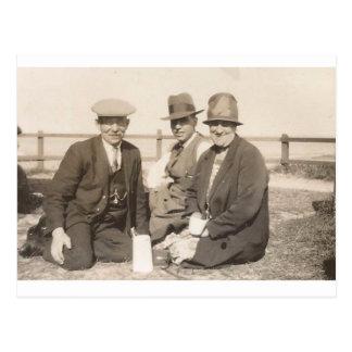 Altes Timer-Picknick Postkarte