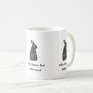 Altes-Timey Linocut eines Kaninchens Kaffeetasse