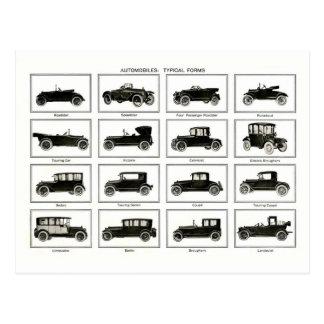 Altes und klassisches Auto (retro Auto): Vintage Postkarte