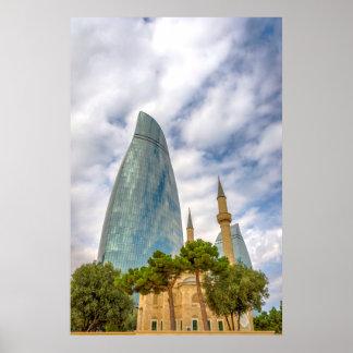 Altes und neues Baku Poster